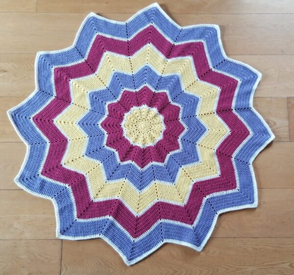 Ready to Ship Star Crochet Blanket - product image 2