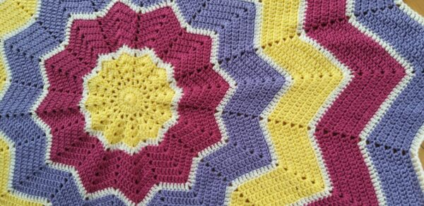 Ready to Ship Star Crochet Blanket - product image 3