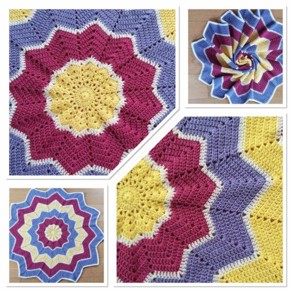 Ready to Ship Star Crochet Blanket - main product image