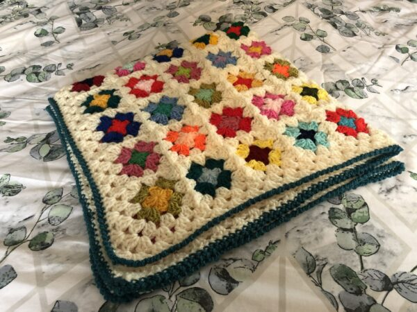 Colourful-Cuddle-up-Crochet Granny Blanket - product image 2
