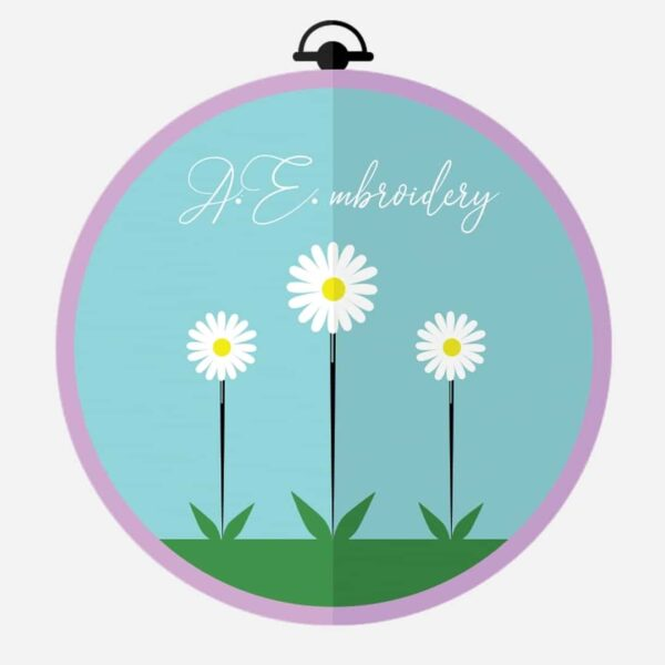A.E.mbroidery shop logo