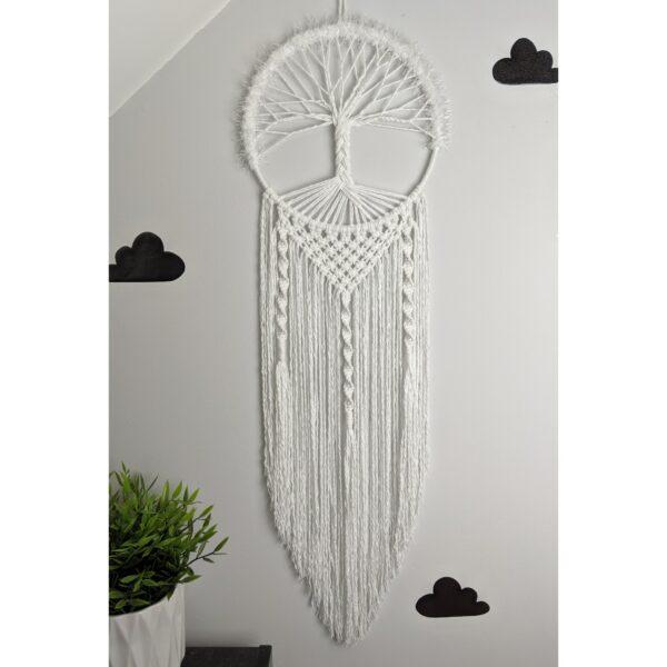 Tree of Life Macrame Wall Hanging White Boho - product image 2