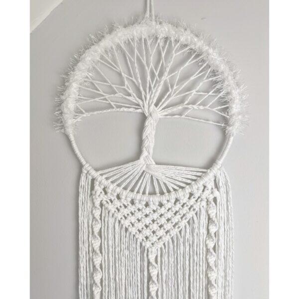 Tree of Life Macrame Wall Hanging White Boho - product image 3