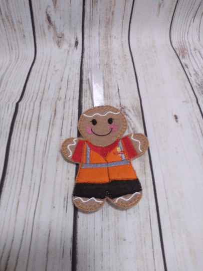 Postman/post lady Gingerbread gift, Royal Mail worker, Christmas gifts for postman - main product image