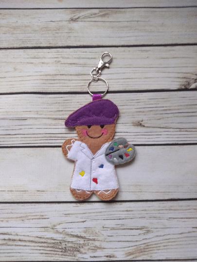 Artist Gingerbread decoration – fridge magnet – keying, Gingerbread Christmas Decoration - main product image