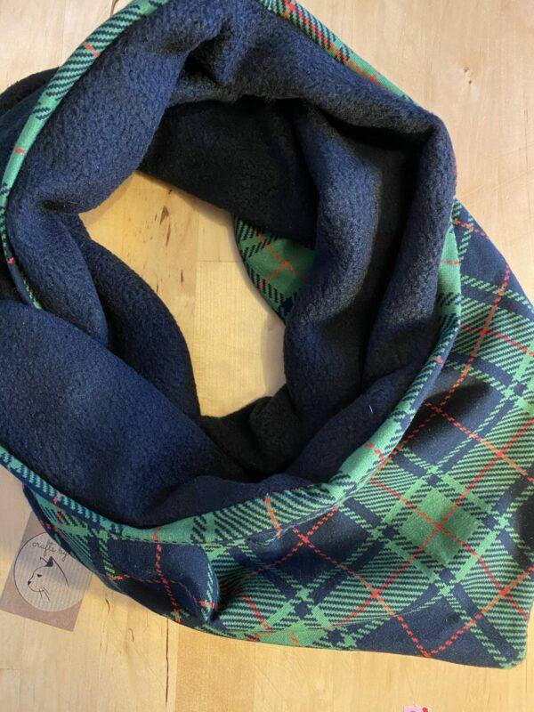 Green tartan Fleece lined Snarf - main product image