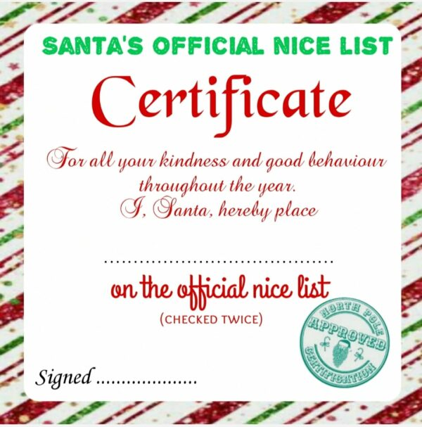 Nice list certificate - main product image