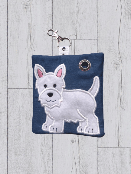 Personalized Westie Dog poop bag holder, personalised dog gifts - main product image