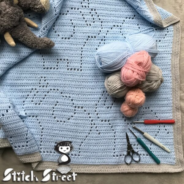 Elephant Baby Blanket - main product image