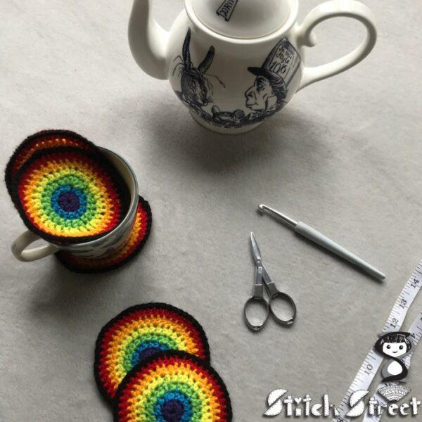 Rainbow coasters - main product image