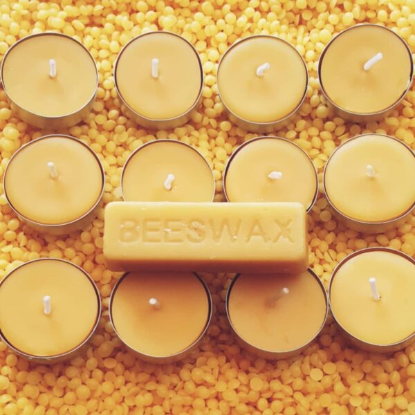 12 Pure Welsh Beeswax tealight candles - main product image