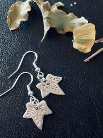 Leaf silver or copper earrings or necklace - main product image