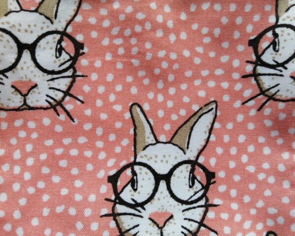 Reusable bamboo wipes, make up remover wipes, rabbit print - product image 3