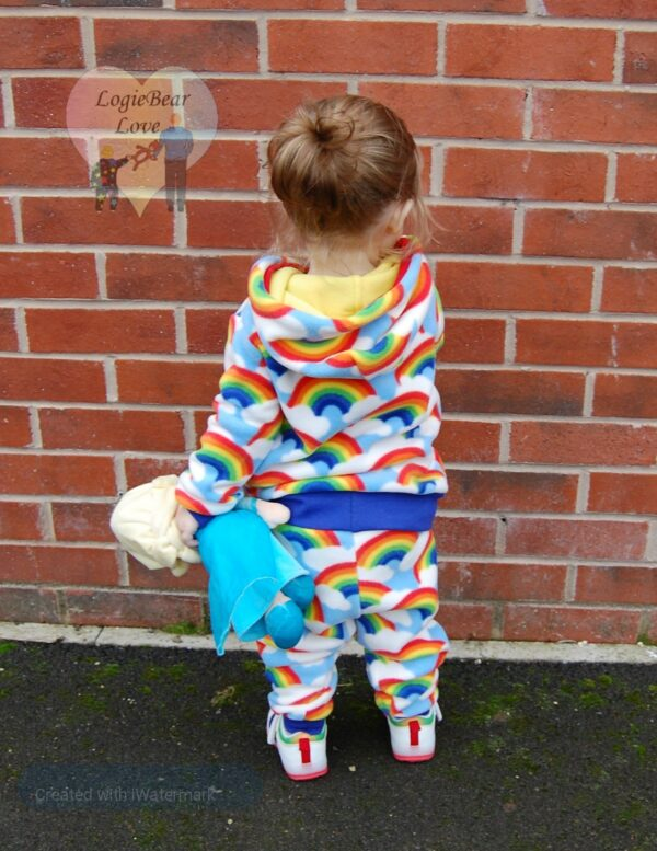 Rainbow Fleece Warm Hooded Top. (Ready made) Size 1 year - product image 3
