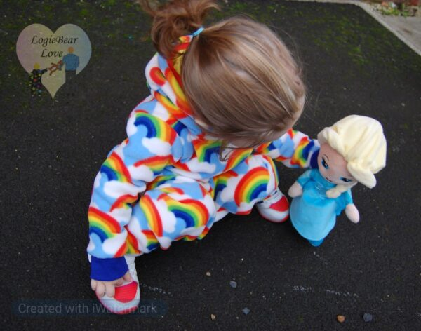 Rainbow Fleece Warm Hooded Top. (Ready made) Size 1 year - product image 2