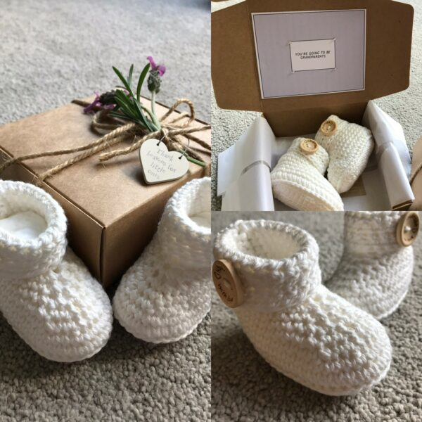 Baby Congratulations Booties - product image 2