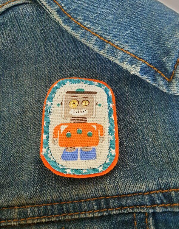 Vintage Robot Brooch - product image 2