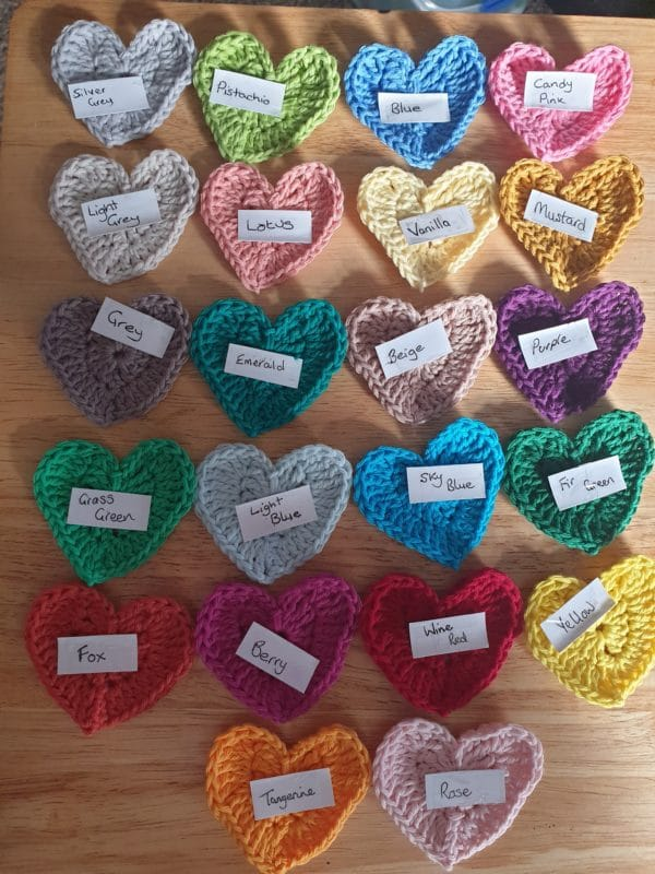 Crochet Heart Bunting - product image 2