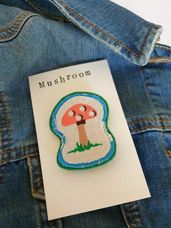 Mushroom Brooch - main product image
