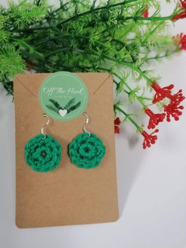 Crocheted Dangling Earrings - main product image