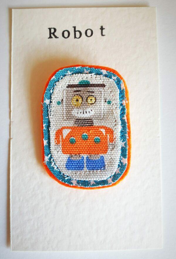 Vintage Robot Brooch - main product image