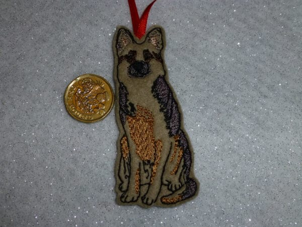 German Shepherd hanging decoration - main product image