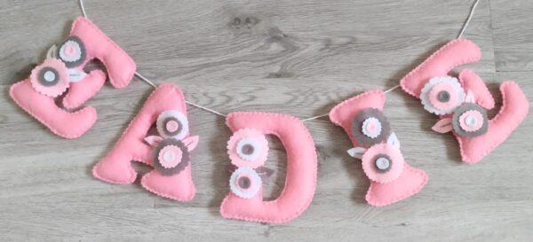Floral nusery bunting - product image 2