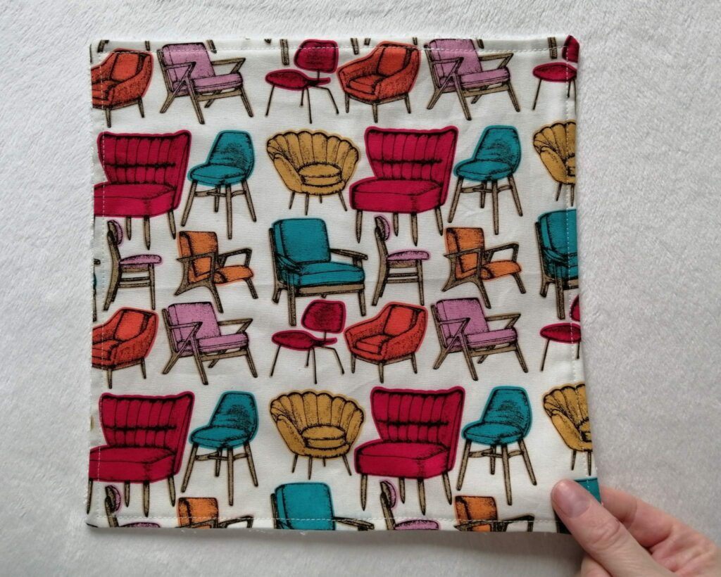 Reusable kitchen wipes – retro chairs - product image 2