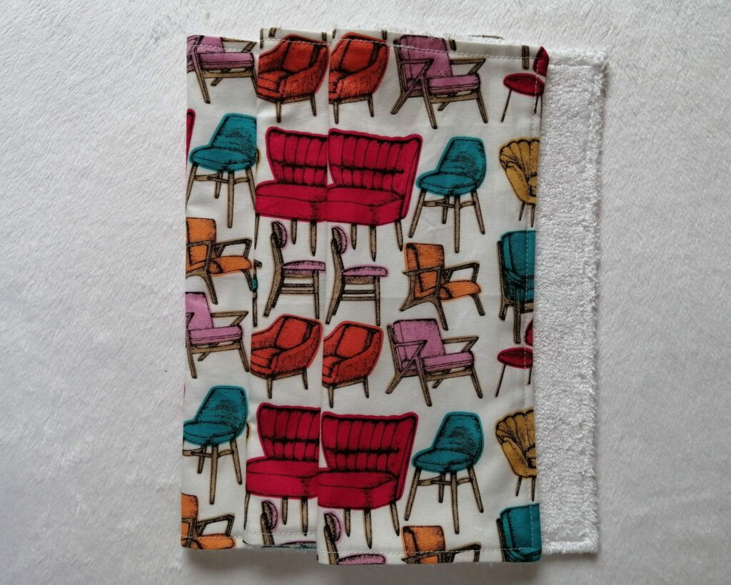 Reusable kitchen wipes – retro chairs - product image 4