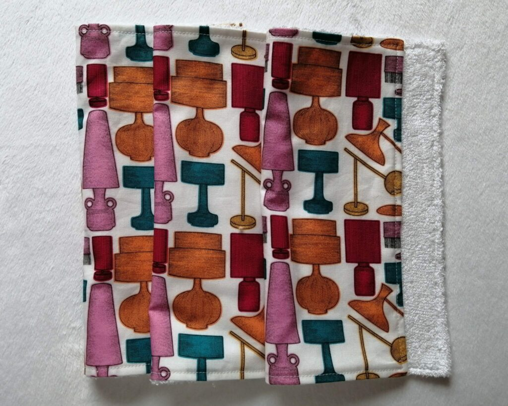 Reusable kitchen wipes – retro lamps - product image 2