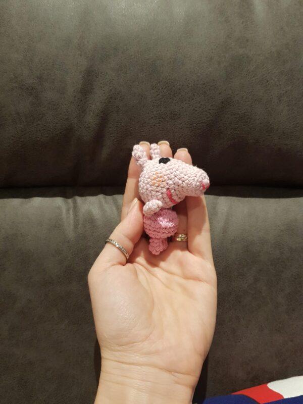 Teeny-tiny Peppa Pig (Handmade / Soft toy / Keyring) - main product image