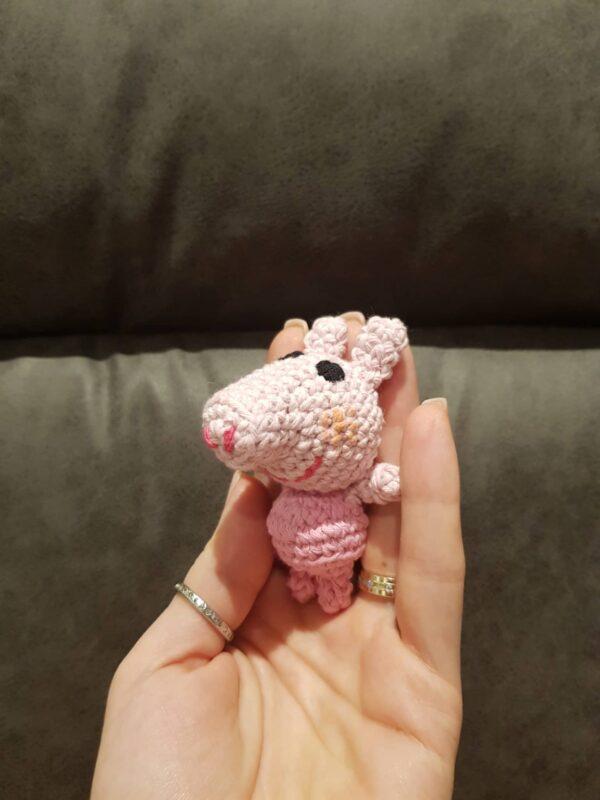 Teeny-tiny Peppa Pig (Handmade / Soft toy / Keyring) - product image 3
