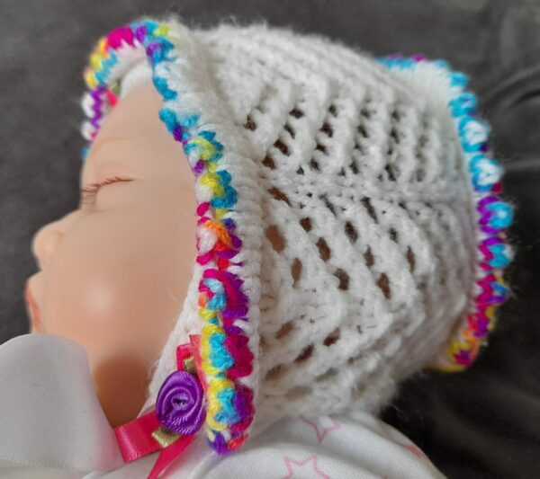 Baby/Doll Bonnet 0-3months - product image 5