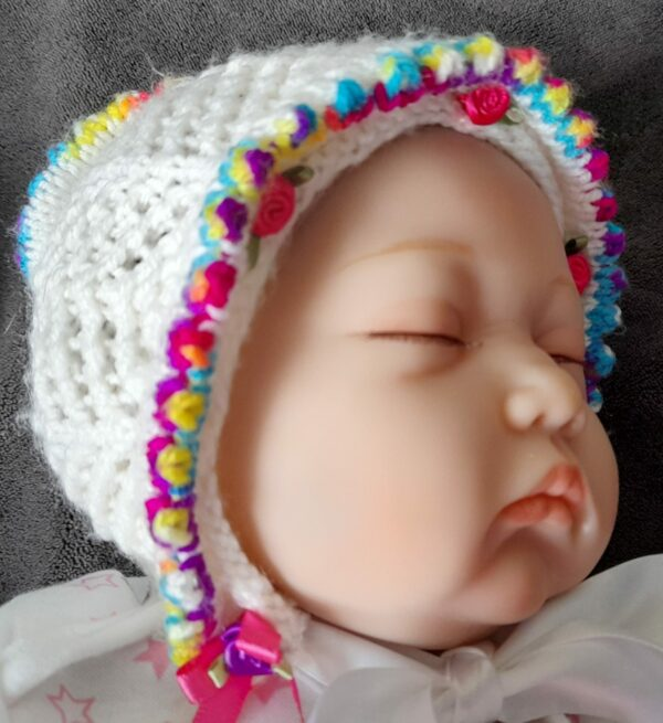 Baby/Doll Bonnet 0-3months - product image 2