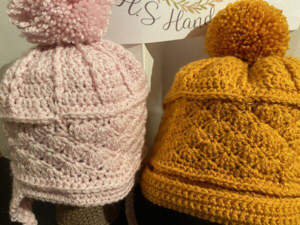 Mini and me bobble hats - main product image