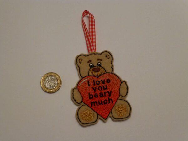 Valentine bear hanging decoration - main product image