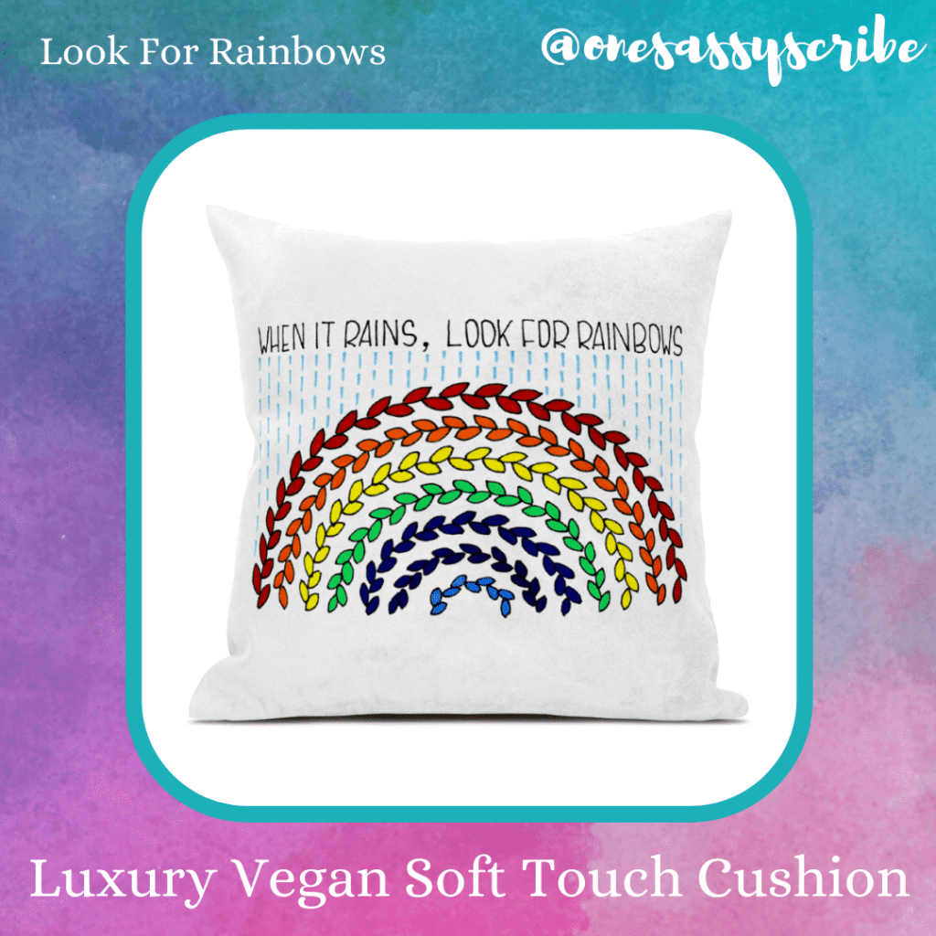 Look For Rainbows Luxury Soft Touch Vegan Fabric Cushion - main product image