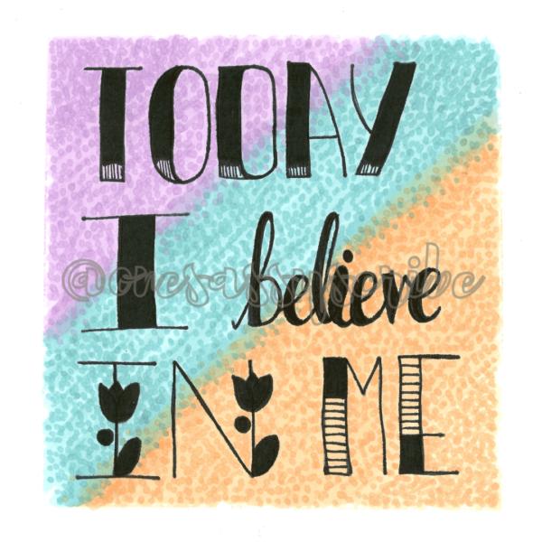 Today I Believe In Me Positive Affirmation China Mug - product image 2