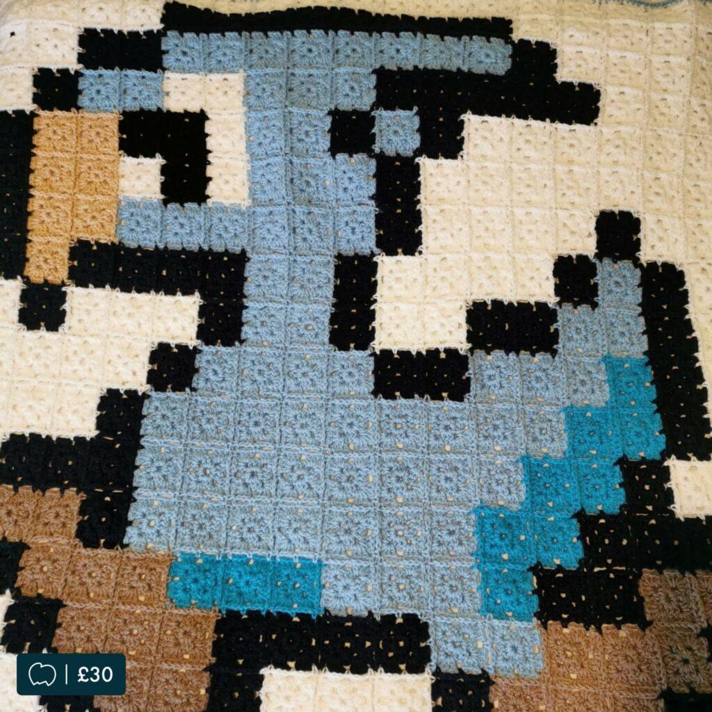 Crochet bird blanket