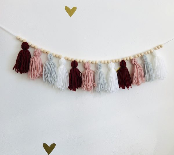 Boho tassel garland —pinks - main product image