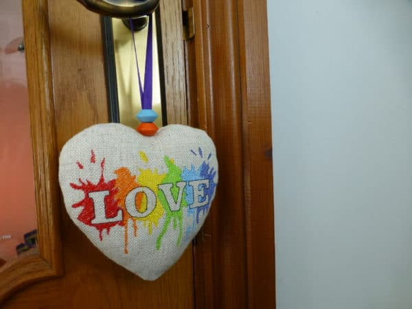 Fabric Hanging Heart – LGBT Rainbow, Pride Love - product image 2