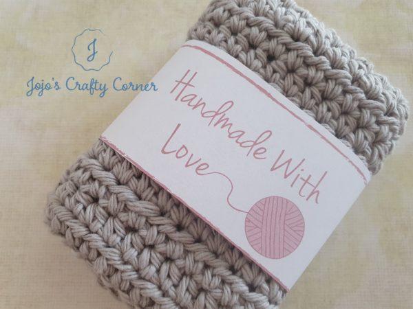 100% cotton crochet wash cloth - product image 3