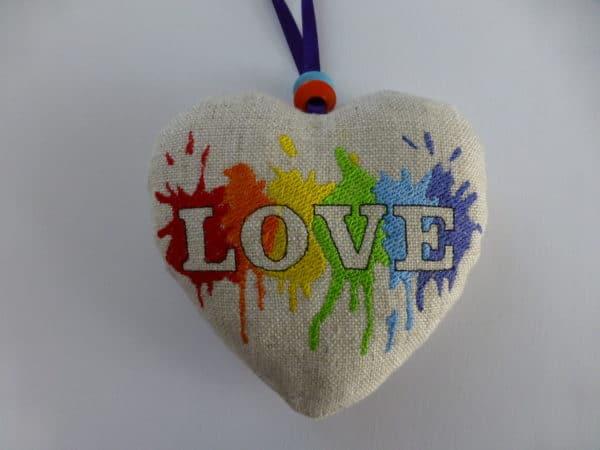 Fabric Hanging Heart – LGBT Rainbow, Pride Love - main product image