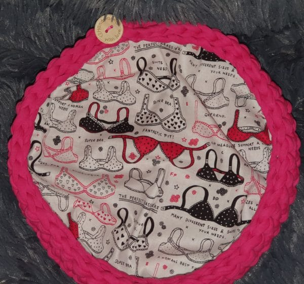 Fabric Yarn Bowl Plus Fun Print Cotton Lining - main product image