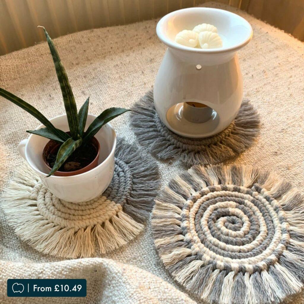 Handmade Macramé Coasters