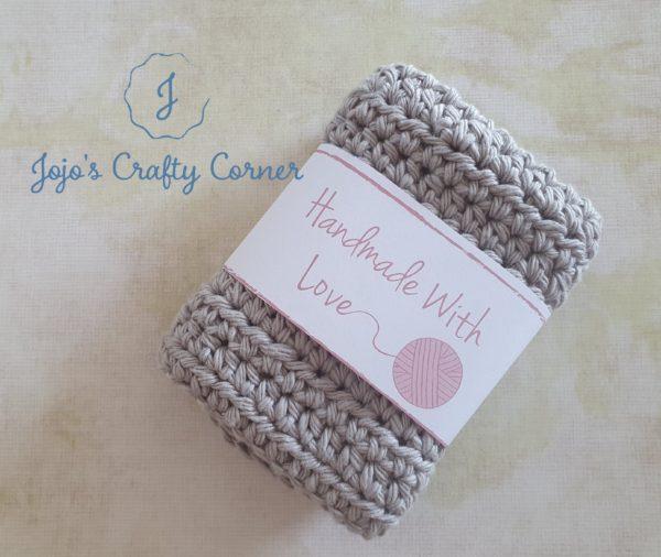 100% cotton crochet wash cloth - main product image