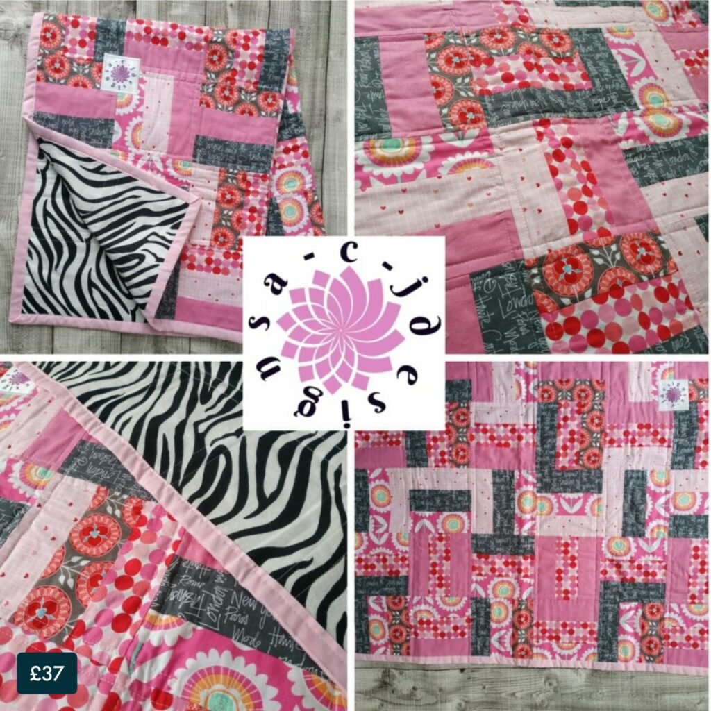 Patchwork Quilted Baby Blanket