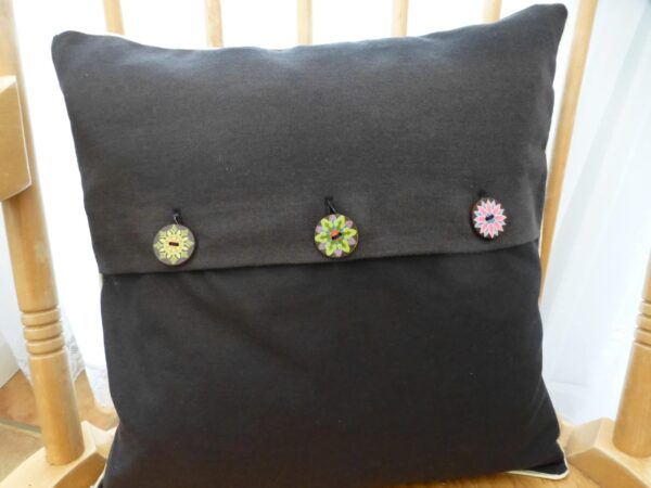 Cushion cover – embroidered rabbit - product image 3