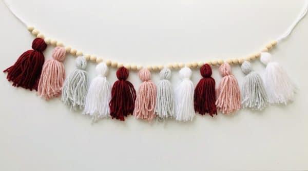 Boho tassel garland —pinks - product image 3
