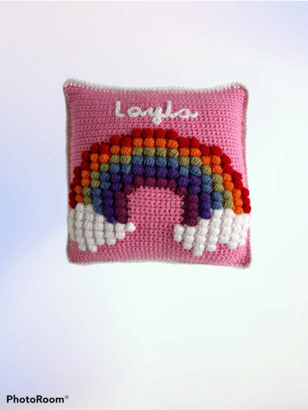 Rainbow Puff Blanket and Pillow Matching Set - product image 4